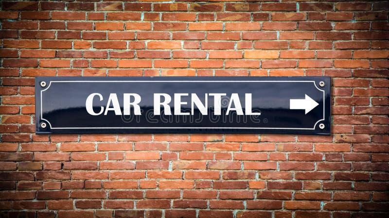 Alquiler de coches de la placa de calle stock de ilustración