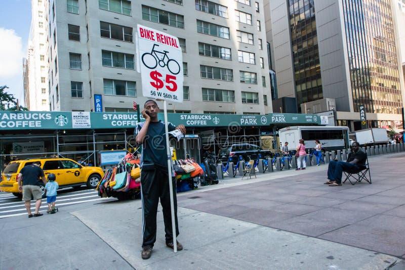 Alquiler De La Bici Foto de archivo editorial