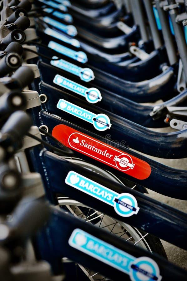 Alquiler de la bici de Santander imagen de archivo