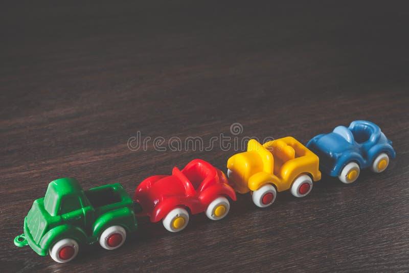 Alquiler modelo de cuatro coches del color imagen de archivo