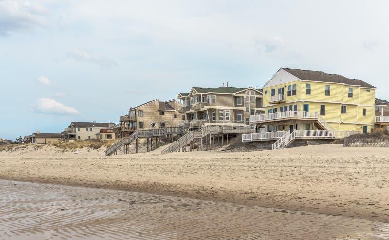 Alquileres de la casa de playa fotos de archivo libres de regalías