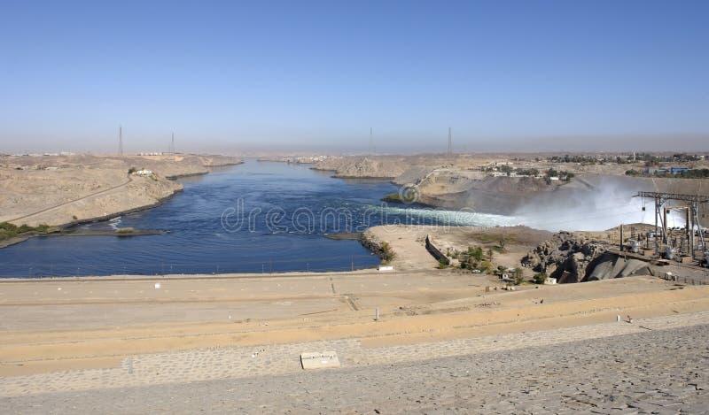 Alrededor de la presa de Aswan en Egipto fotos de archivo libres de regalías