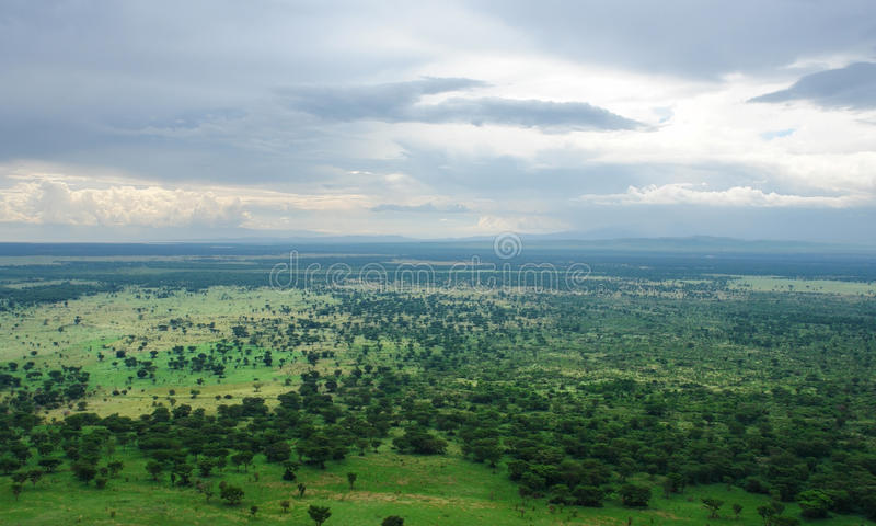 Alrededor del bosque impenetrable de Bwindi en Uganda fotografía de archivo