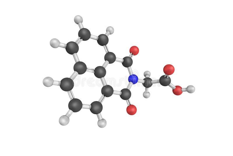 Alrestatin, een inhibitor van aldose reductase, een enzym in kwestie stock afbeeldingen