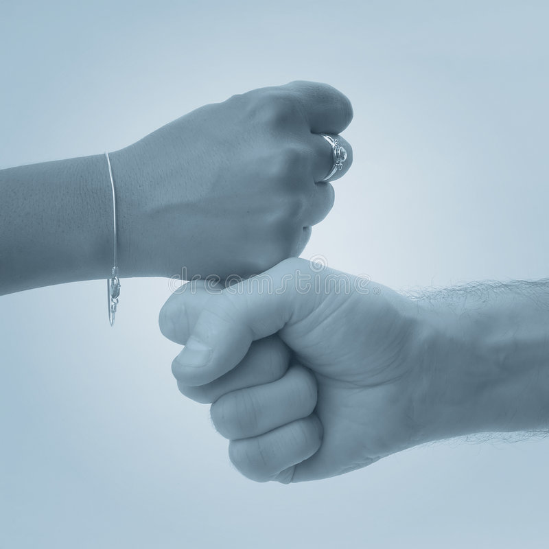 Alright. Two fists stock photography