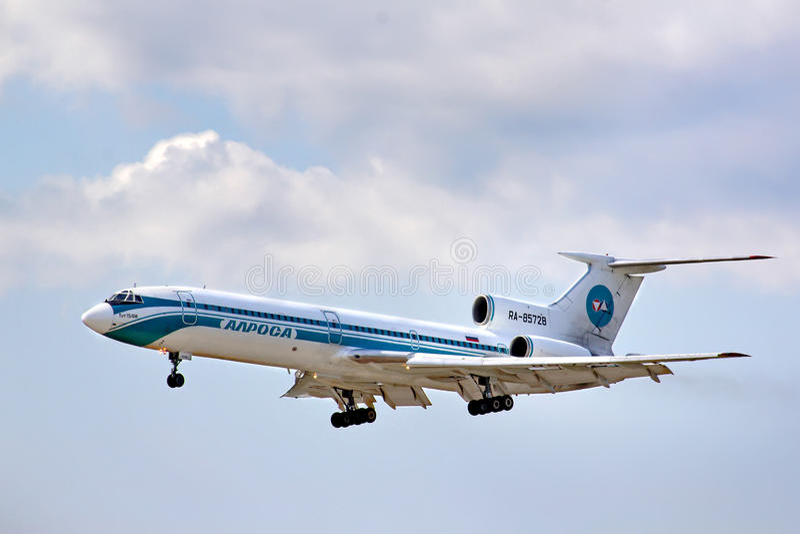 Alrosa Tupolev Tu-154M zdjęcia royalty free