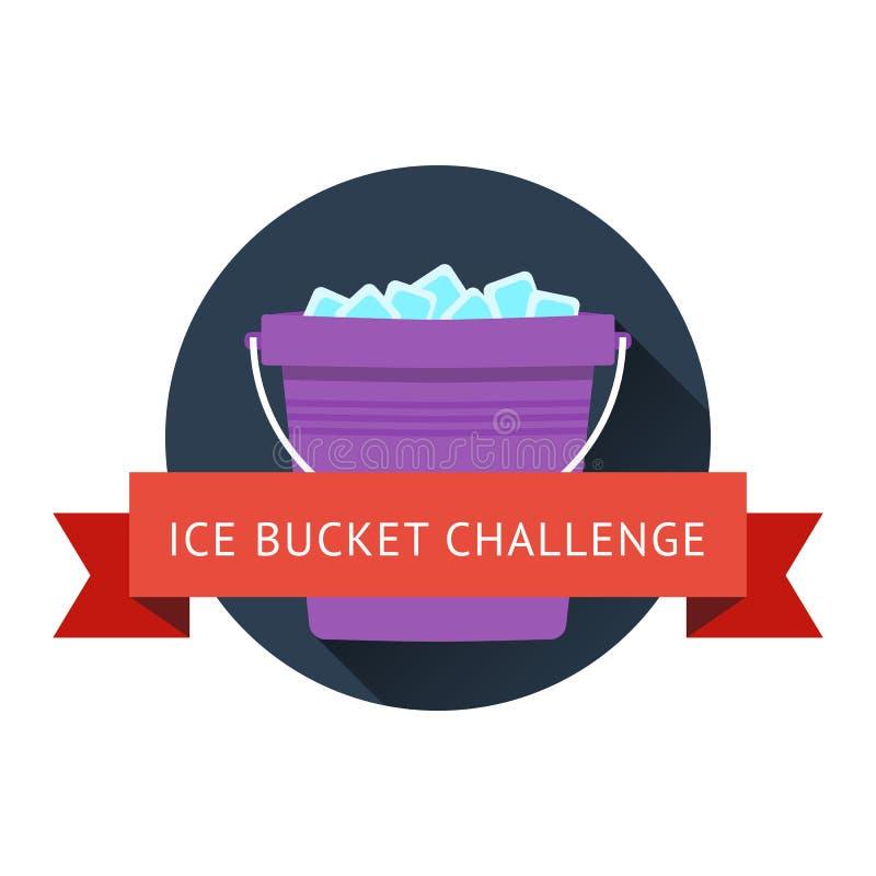 ALS冰桶挑战概念 向量例证