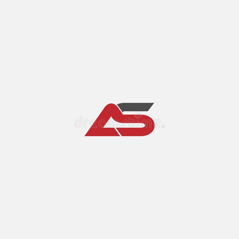 ALS Buchstabe Logo Design vektor abbildung