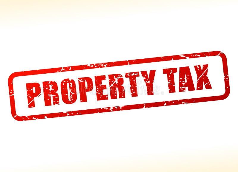 Als buffer opgetreden voor onroerendgoedbelastingtekst stock illustratie