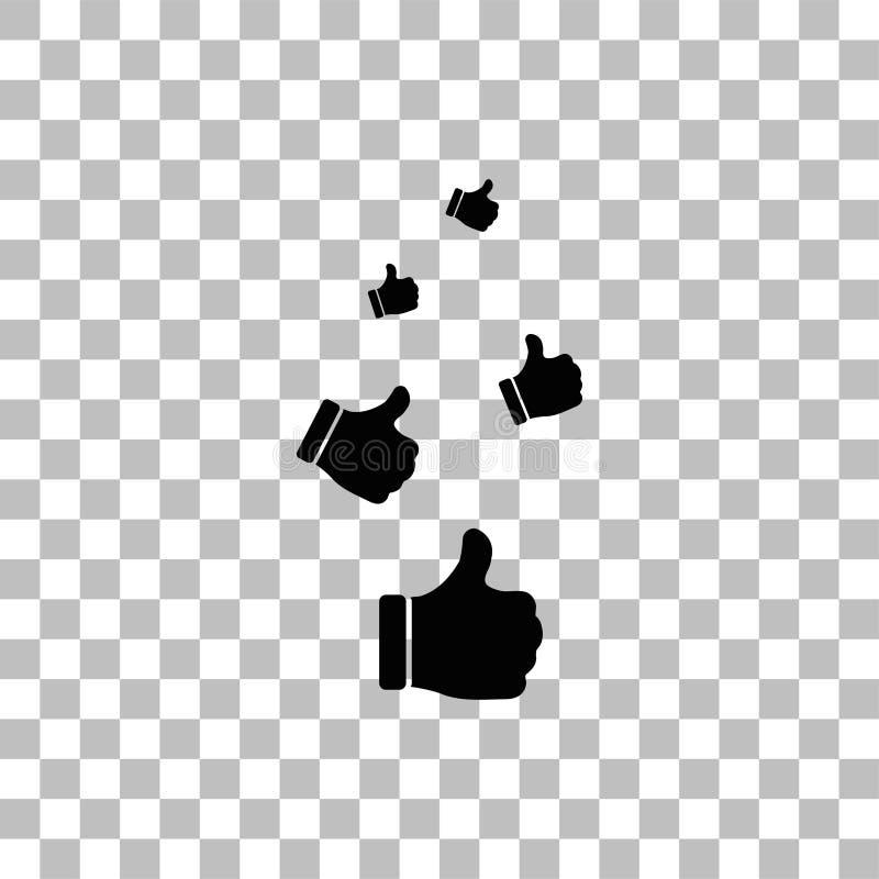 Als, Duimen op vlak pictogram stock illustratie