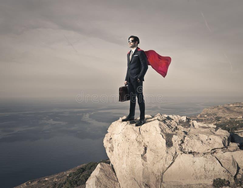 Als een superhero royalty-vrije stock afbeeldingen