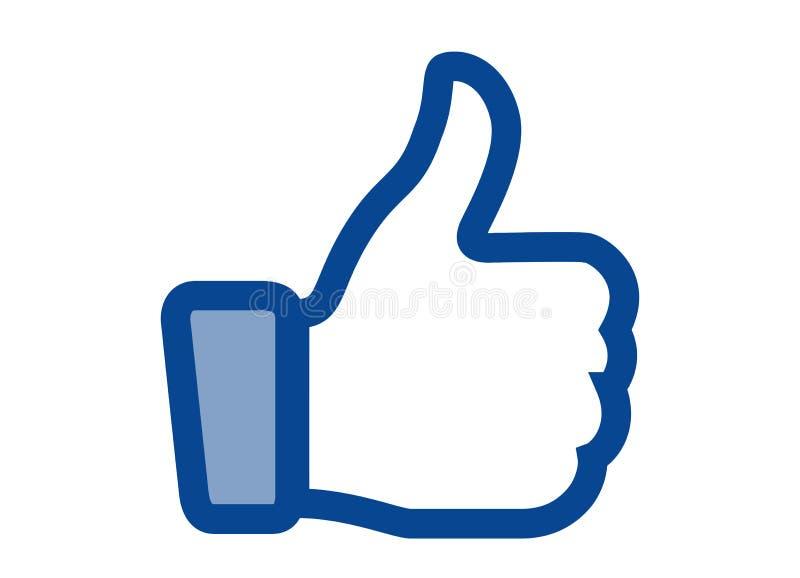 Als embleem van het sociale netwerk Facebook royalty-vrije illustratie