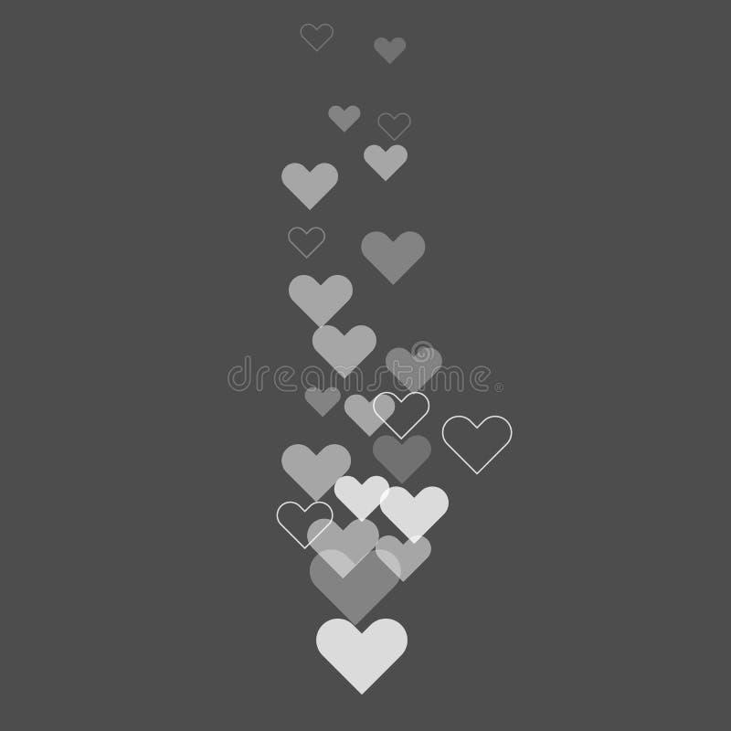 Als harten die boven tijdens levende stroom op sociale media vliegen Vector illustratie stock illustratie