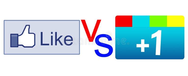 Als knoop versus plus 1 knoop stock illustratie