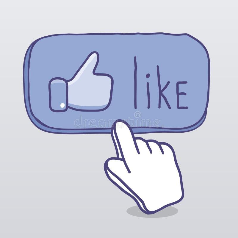 als Mededeling in sociale media stock illustratie