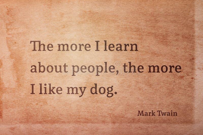 Als mijn hond Twain royalty-vrije stock foto's