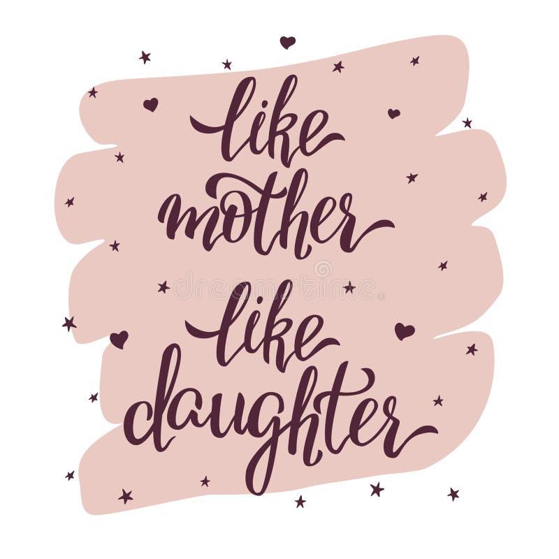 Als Moeder zoals Dochter royalty-vrije stock foto