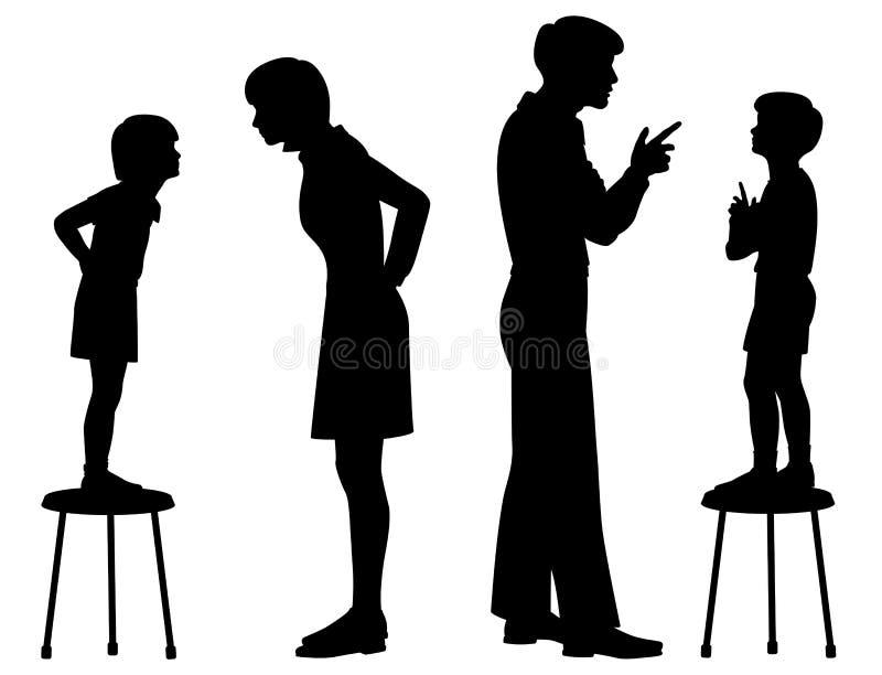 Als ouder zoals kind vector illustratie