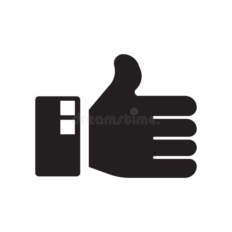 Als pictogramvector op witte achtergrond, zoals teken wordt geïsoleerd dat royalty-vrije illustratie