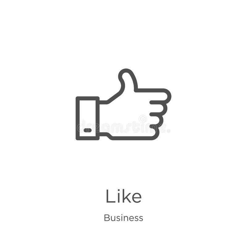 als pictogramvector van bedrijfsinzameling Dunne lijn zoals de vectorillustratie van het overzichtspictogram Overzicht, dunne lij royalty-vrije illustratie