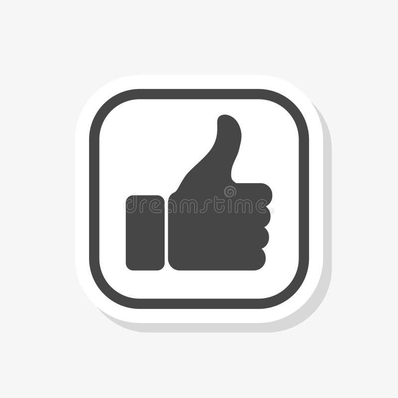 Als sticker op witte achtergrond wordt geïsoleerd die Als pictogram in en modern als symbool voor embleem stock illustratie