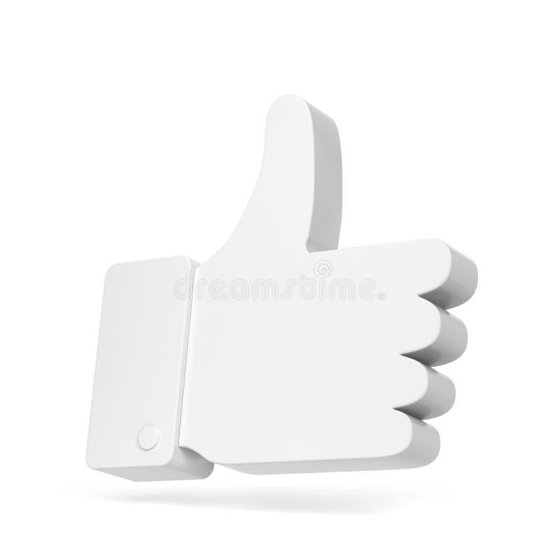 Als symbool van het duim het omhoog sociale netwerk vector illustratie