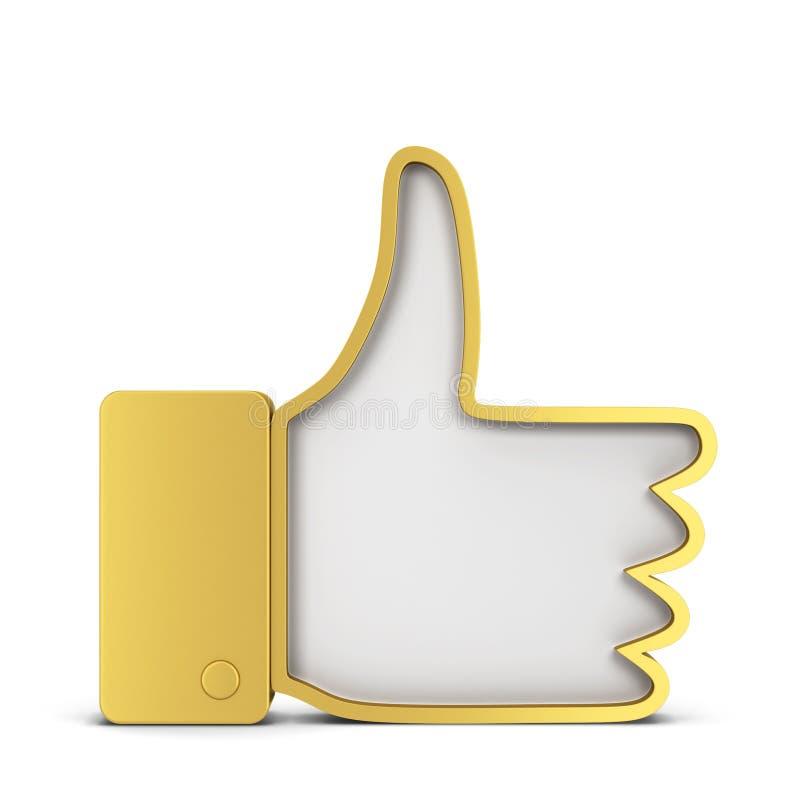 Als symbool van het duim het omhoog sociale netwerk stock illustratie