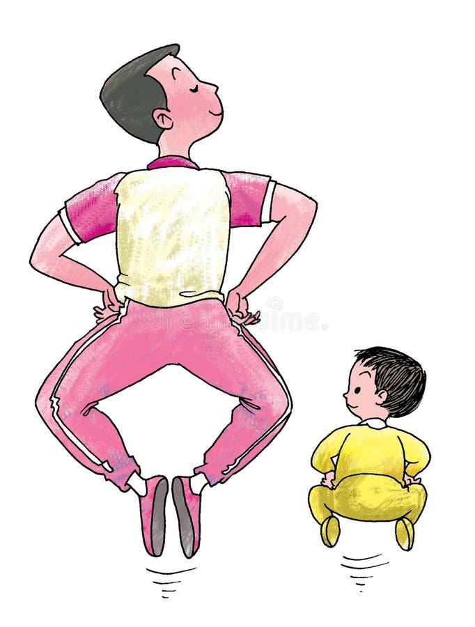 Als vader, zoals zoon stock illustratie