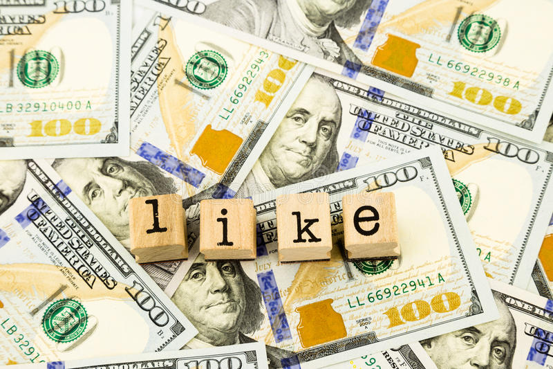 Als verwoording op de bankbiljetten van de gelddollar stock foto's
