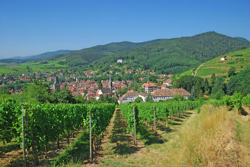 alsace ribeauville France obraz royalty free