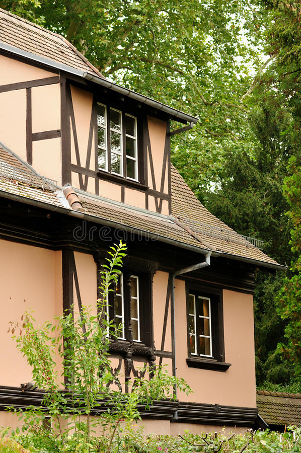Alsace traditional house royalty free stock photo