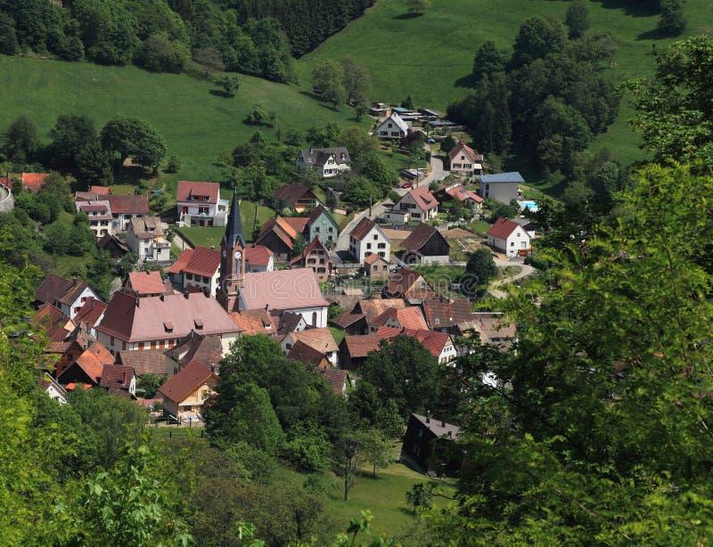 Download Alsatian village stock image. Image of landmark, green - 21130455