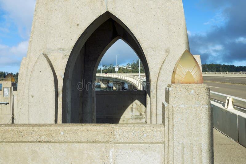 Alsea Bay Bridge With Arches stock image