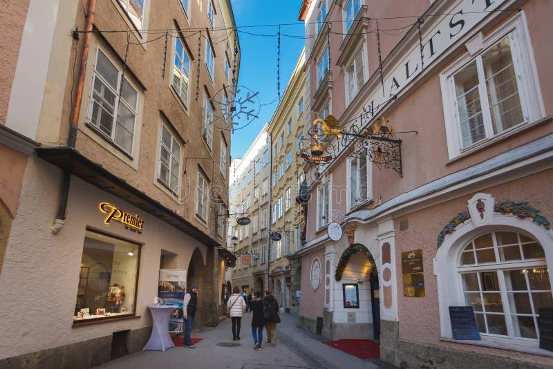 Alstadt-Hotel in Salzburg lizenzfreie stockbilder