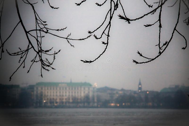 ALSTER RIVER royalty free stock photo