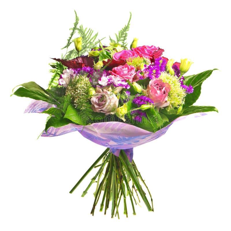 alstromeria美丽的bouqet玫瑰茶 免版税库存图片
