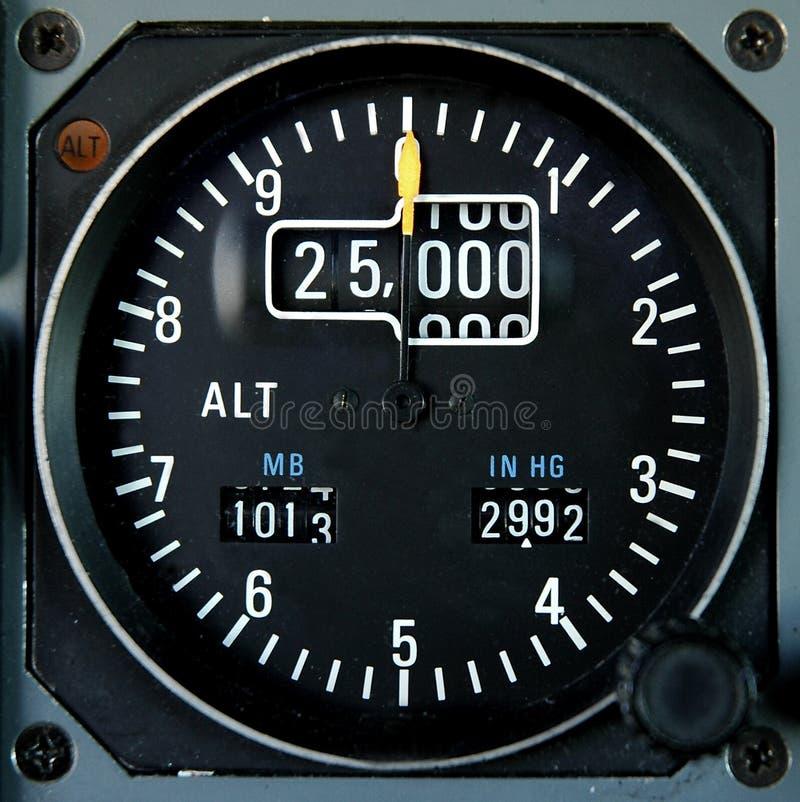 Altímetro de los aviones imagenes de archivo
