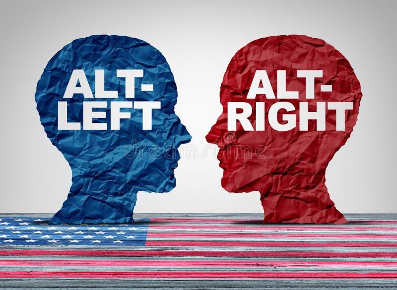 ALT-δικαίωμα και Altleft απεικόνιση αποθεμάτων