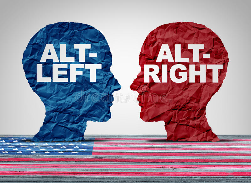 Alt-droit et Altleft illustration stock