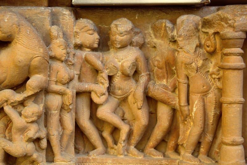 Alt-relievo von Tempeln von Khajuraho lizenzfreie stockfotografie