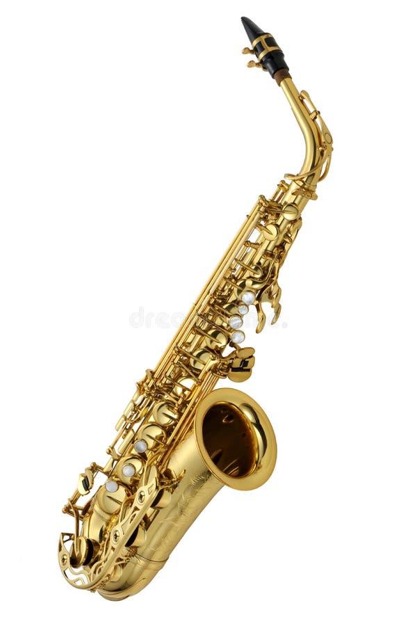 alt- saxofon royaltyfri foto