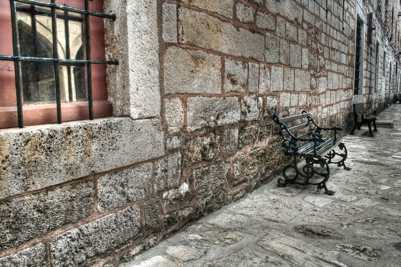 Alt stonewall am Topkapi Palast, Istanbul stockfoto