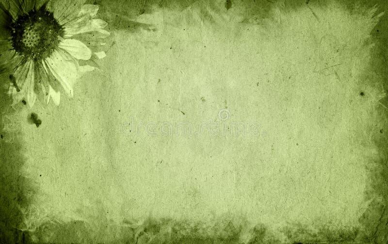 Alt und blühen Sie Papierbeschaffenheitshintergrund stockfotos