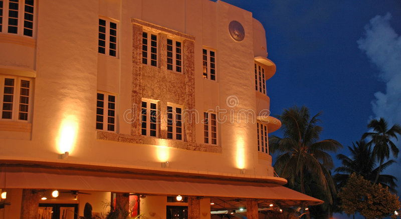 Alt View of Art Deco Hotel royalty free stock photography