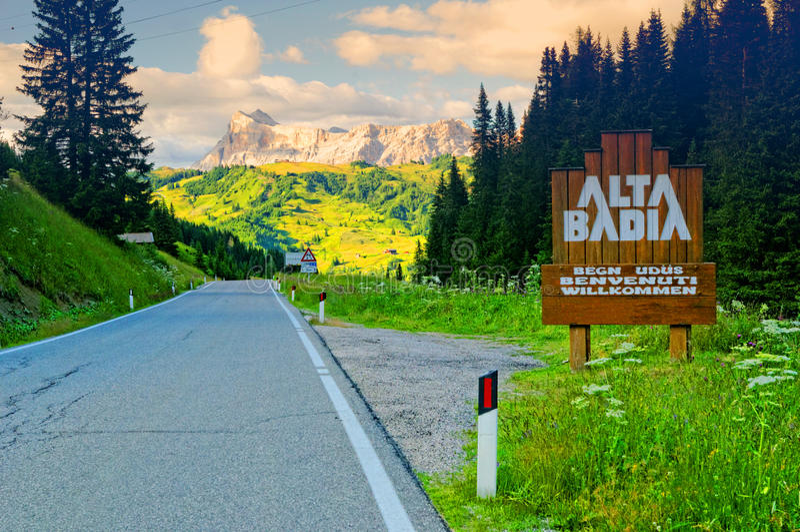 Download Alta Badia, Dolomite, Alps stock image. Image of sign - 33506645