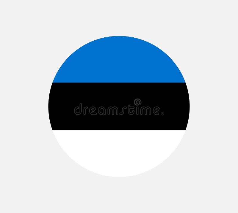 Alta bandera detallada del vector de Estonia La bandera de Estonia, colores oficiales y proporcióna correctamente Bandera naciona stock de ilustración
