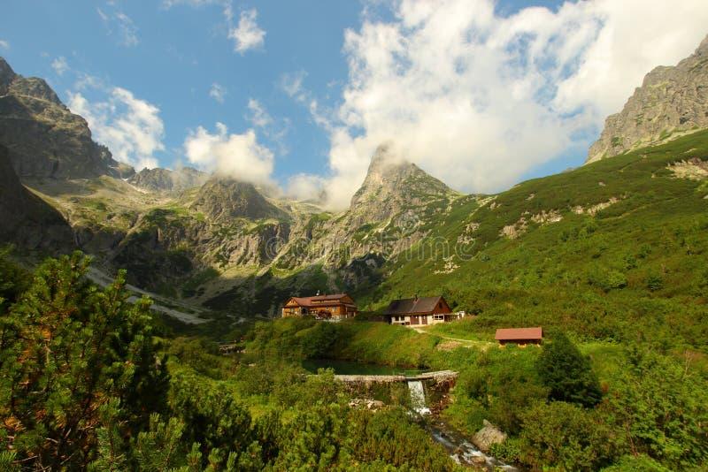 Alta cabaña de Tatras imagen de archivo libre de regalías