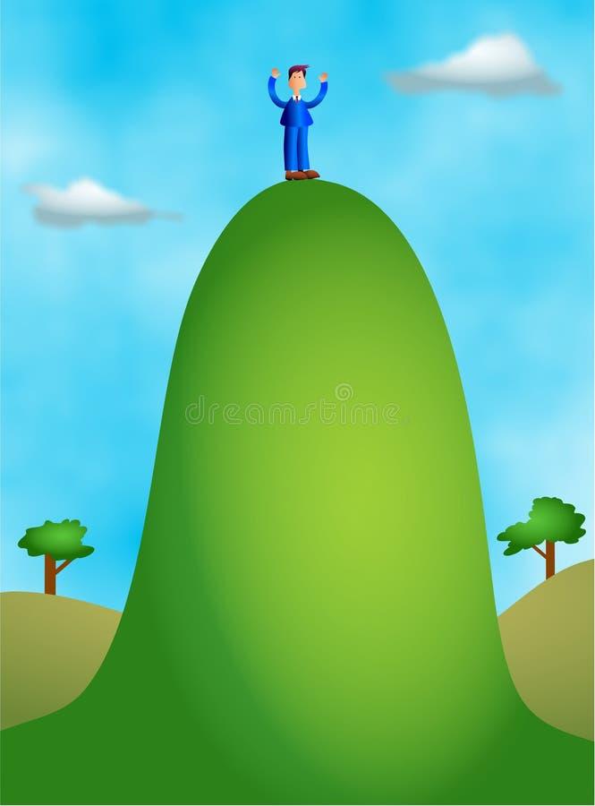 Alta colina ilustración del vector