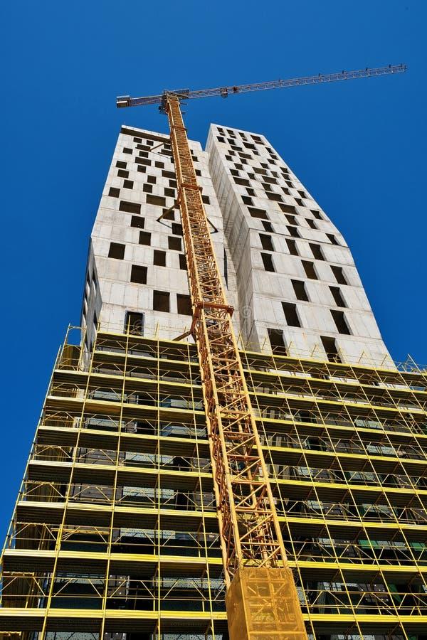 Alta construcción de la subida, Tirana, Albania fotos de archivo