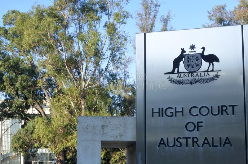 Alta corte dell'Australia Australia nel territorio capitale di Canberra Australia fotografia stock libera da diritti